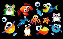 Animali divertenti impostati Fotografia Stock