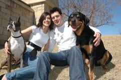 Animali domestici felici Fotografie Stock Libere da Diritti