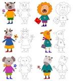 Animali domestici. Libro di coloritura Fotografie Stock Libere da Diritti