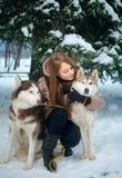 Animali domestici su una passeggiata fotografie stock libere da diritti