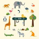 Animali e zoo illustrazione di stock