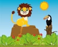 Animali ed uccelli in natura selvaggia Illustrazione di vettore royalty illustrazione gratis