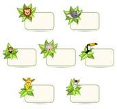 Animali felici del fumetto - autoadesivi royalty illustrazione gratis