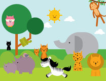 Animali /illustration Immagini Stock Libere da Diritti