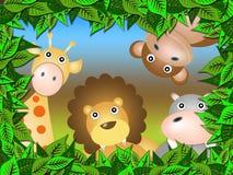Animali nella foresta Fotografia Stock