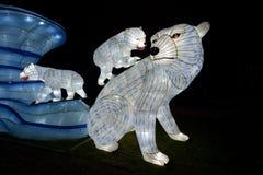 Animali nella notte del Jardin des Plantes immagine stock