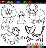 Animali per il libro o la pagina di coloritura Fotografie Stock
