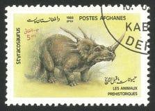 Animali preistorici, Styracosaurus fotografie stock
