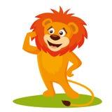 Animali selvatici Lion Wildlife Vector illustrazione di stock