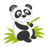Animali selvatici Panda Bear Wildlife Vector Fotografie Stock Libere da Diritti