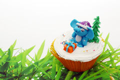 Animali svegli della torta della tazza Fotografia Stock Libera da Diritti