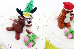 Animali svegli della torta della tazza Immagini Stock Libere da Diritti