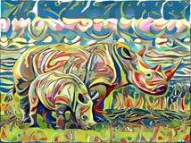 Animali tirati Immagine Stock