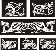 Animalistic celtic knot patterns. Set of vector illustrations Stock Image