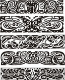 Animalistic knot designs in celtic style Royalty Free Stock Photo