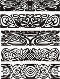 Animalistic knot designs in celtic style. Black and white vector illustrations Royalty Free Stock Images