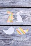 Animalistic Schattenbilder Papercut für Ostern Lizenzfreies Stockbild