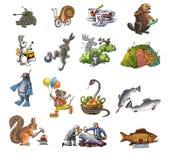 Animals_1 différent Photographie stock libre de droits