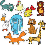 Animals. Set of cute cartoon animals royalty free illustration