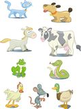 Animals. Set of cartoon style animals and pets Royalty Free Stock Photography