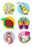 Animals. Illustration of animals which can be used as application for children's clothes Royalty Free Stock Photography