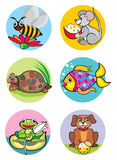 Animals. Illustration of animals which can be used as application for children's clothes Stock Image