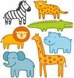 Animals. Wild animals vector illustration set Stock Photos
