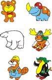 Animals_3 de diversión Imagen de archivo