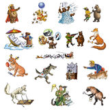 Animals_3 diferente Fotos de Stock