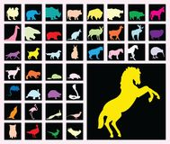 Animals. Vector animals in different colors Stock Photo