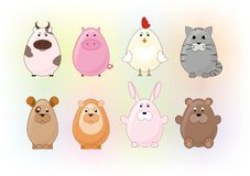 Animals. Symbolic images of animals for the design vector illustration