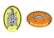 Animals-aboriginal art 2 Royalty Free Stock Images
