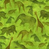 Animals abstract seamless background Stock Photos