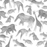 Animals abstract seamless background Royalty Free Stock Images