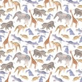 Animals abstract seamless background Royalty Free Stock Photography