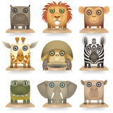 Animals of Africa vector illustration