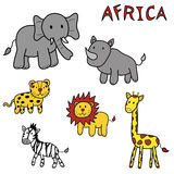 Animals of africa Royalty Free Stock Photos