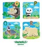 Animals alphabet or ABC. Royalty Free Stock Photo