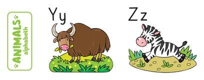 Animals alphabet or ABC. Stock Photos