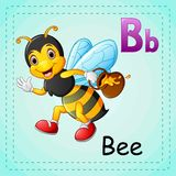 Animals alphabet: B is for Bee. Illustration of Animals alphabet: B is for Bee Stock Image