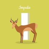 Animals Alphabet. Letter - I Stock Image