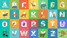 Animals Alphabet. Letter from A to Z Royalty Free Stock Image