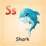 Animals alphabet: S is for Shark Royalty Free Stock Image