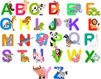Animals alphabet set. Illustration of Animals alphabet set royalty free illustration