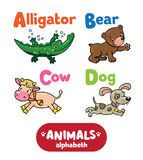 Animals alphabeth or ABC. Stock Photography