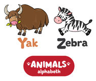 Animals alphabeth or ABC. Royalty Free Stock Image