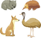 Animals australia 2. Set of Australian animals  cartoons Stock Images