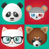 Animals avatars. Illustration of a set of animal avatars Stock Image