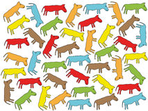 Animals background. Abstract animals on white background - vector illustration Stock Images
