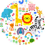 Animals background. Illustration of a cute animals background Royalty Free Stock Photos